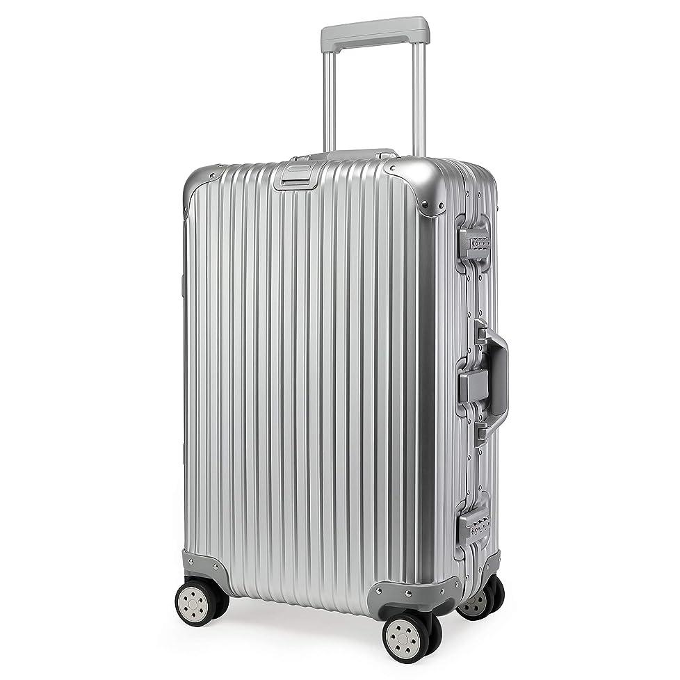 シール先重さKroeus(クロース)キャリーケース スーツケース アルミ-マグネシウム合金ボディ TSAロック搭載 360度自由回転 S型機内持込可 日本語取扱説明書付き 1年間保証