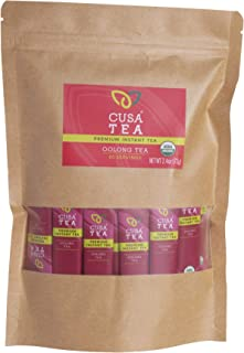 Cusa Tea: Organic Oolong Premium Instant Tea - 100% Organic Tea - No Sugar or Artificial Flavors - Make Hot & Cold Tea in ...