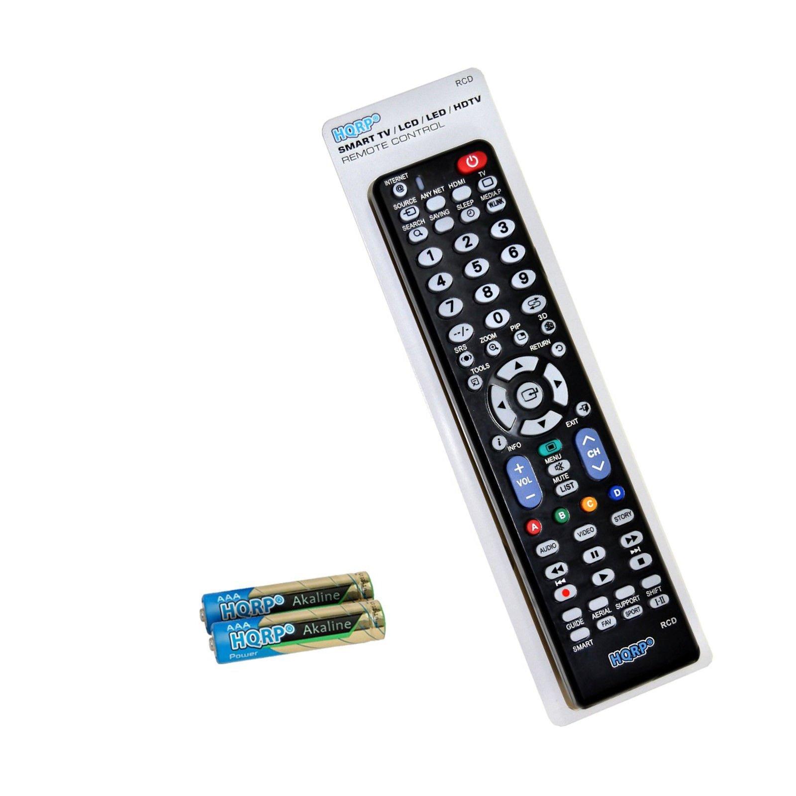 HQRP Mando a Distancia para televisores LED de Samsung JS8500; UE48JS8500T, UE55JS8500T, UE65JS8500T Curvo SUHD Smart TV: Amazon.es: Electrónica