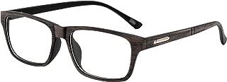 J&L Glasses Vintage Classic Full Frame Horn Rimmed Wood Grain Unisex Glasses Frame