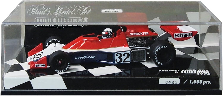 Minichamps I. Scheckter Tyrrell Ford 007 Formel 1 1975 1 43 B00K7YGKBW Heißer Verkauf  | Geeignet für Farbe