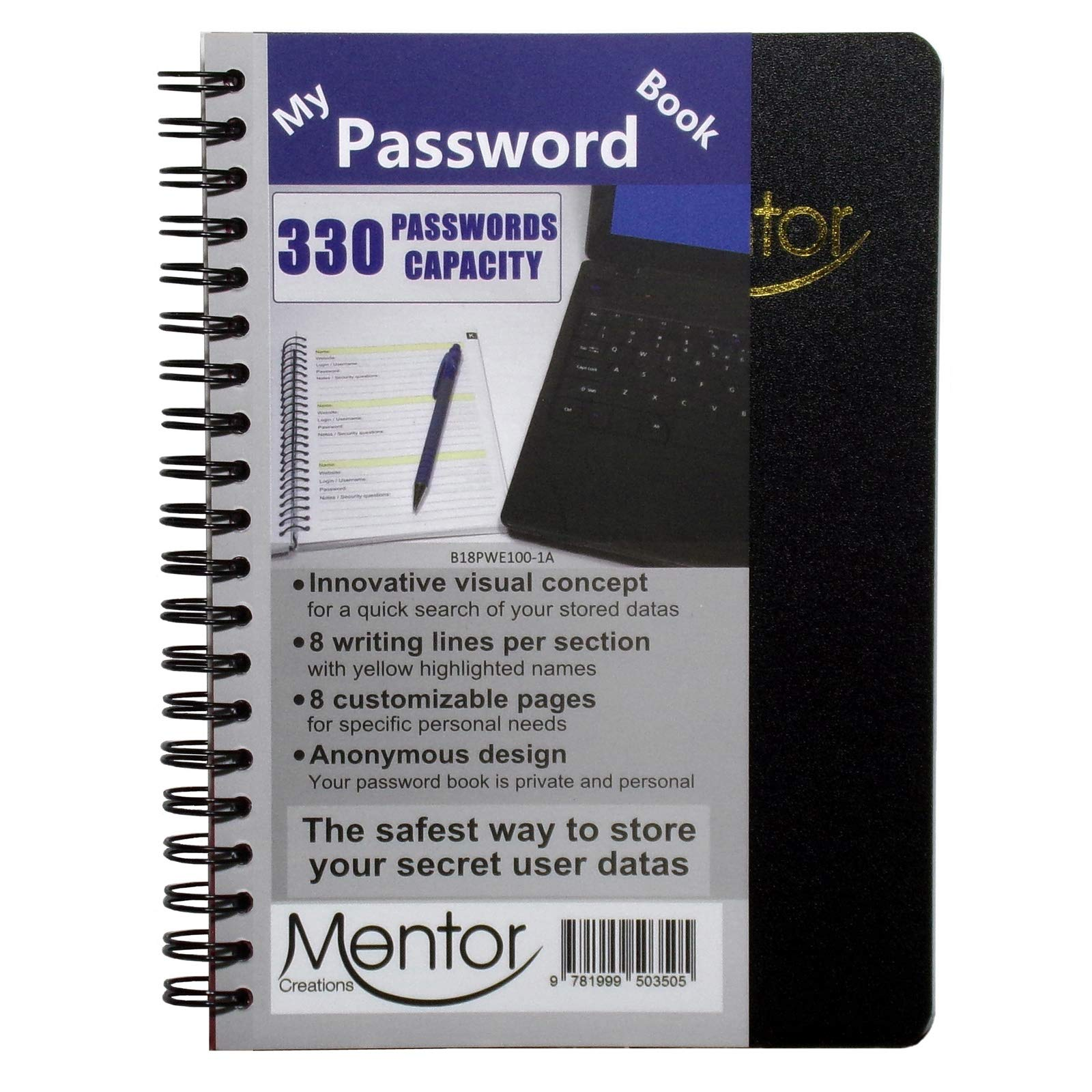 My Password Book Private Journal