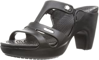 croc heels sandal