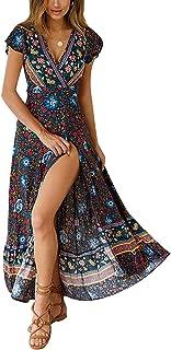 Women's Dresses Bohemian Floral Printed Summer Casual...