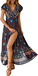 Women's Dresses Bohemian Floral Printed Summer Casual...