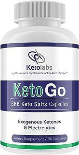 Ketolabs KetoGo BHB Keto Salts Capsules Exogenous Ketones & Electrolytes Supplement