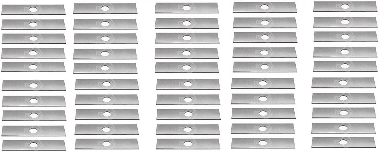 """Pack of 50 NEW ROTARY Edger Blade 6107 7-11//16/"""" X 1/"""" UNSHARPENED FREE SHIPPING"""