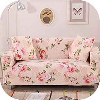 Slipcovers Sofa Flower Pattern Cove Tight wrap All-Inclusive Slip-Resistant sectional Elastic Full Sofa One/Two/Three/Four seat,23,Four seat Sofa