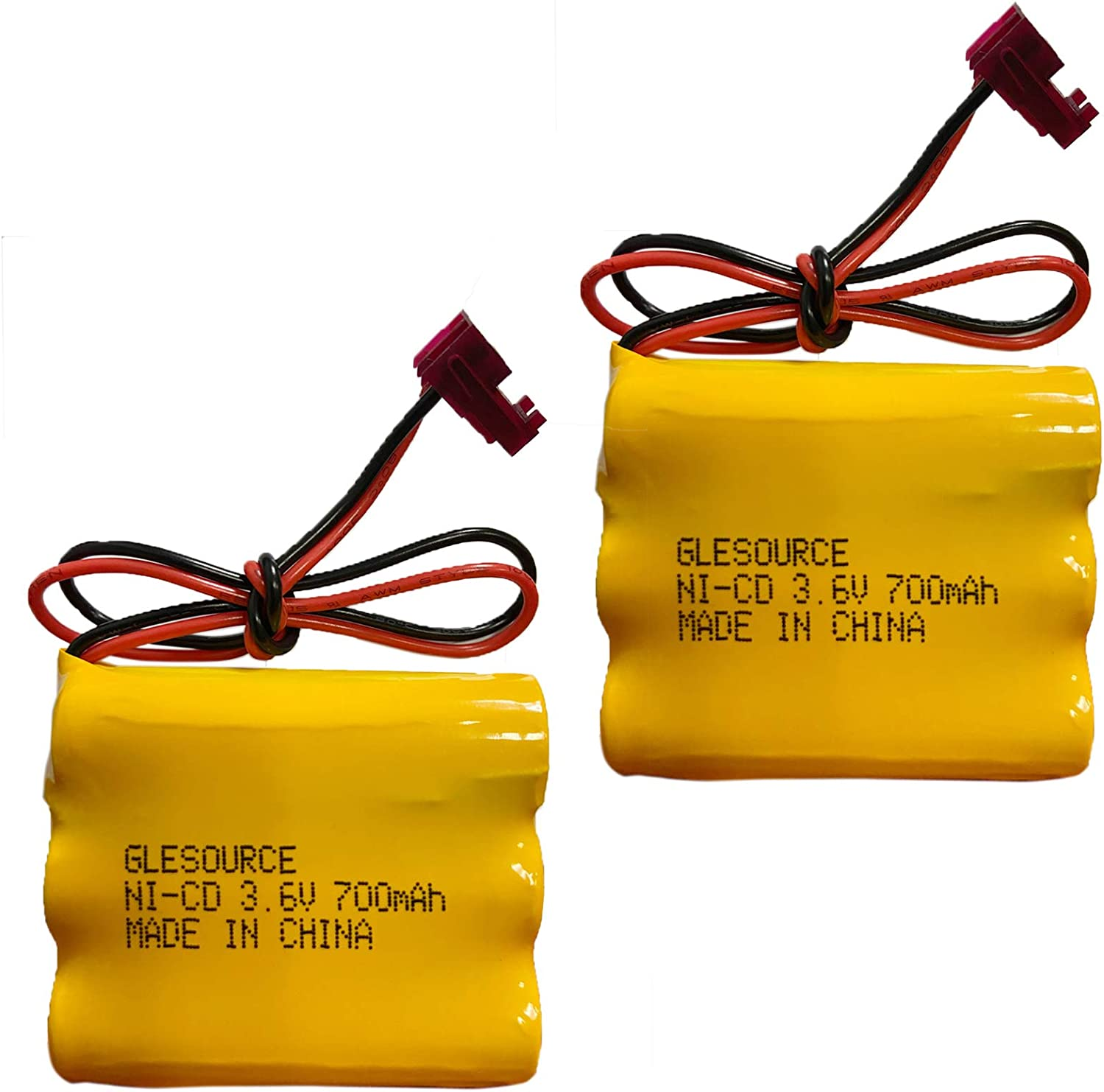 2 Pack GLESOURCE 3.6V 700mAh Ni-CD Battery Pack Replacement for Sure-Lites 026-148 026148 Exit Sign Emergency Light SL-026148 SL-026-148 SL026148