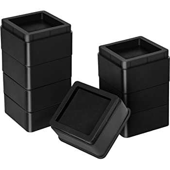 Utopia Bedding Furniture and Bed Risers (Pack of 8) - 2 Inch Stackable Square Risers for Sofa, Table, and Chair Lifts up to 10,000 Lbs - includes Durable Plastic and Anti Slip Foam Grip