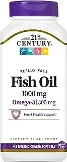زيت السمك المدعم بحمض اوميغا 3 من توينتي فيرست سينشري 1000 ملغ اي سي اس جي - 90 كبسولة