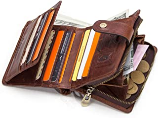 Slim Wallet RFID Front Pocket Minimalist Wallet - Leather Bifold Wallets for Men Slim - Money Clip Wallets for Men with ID...