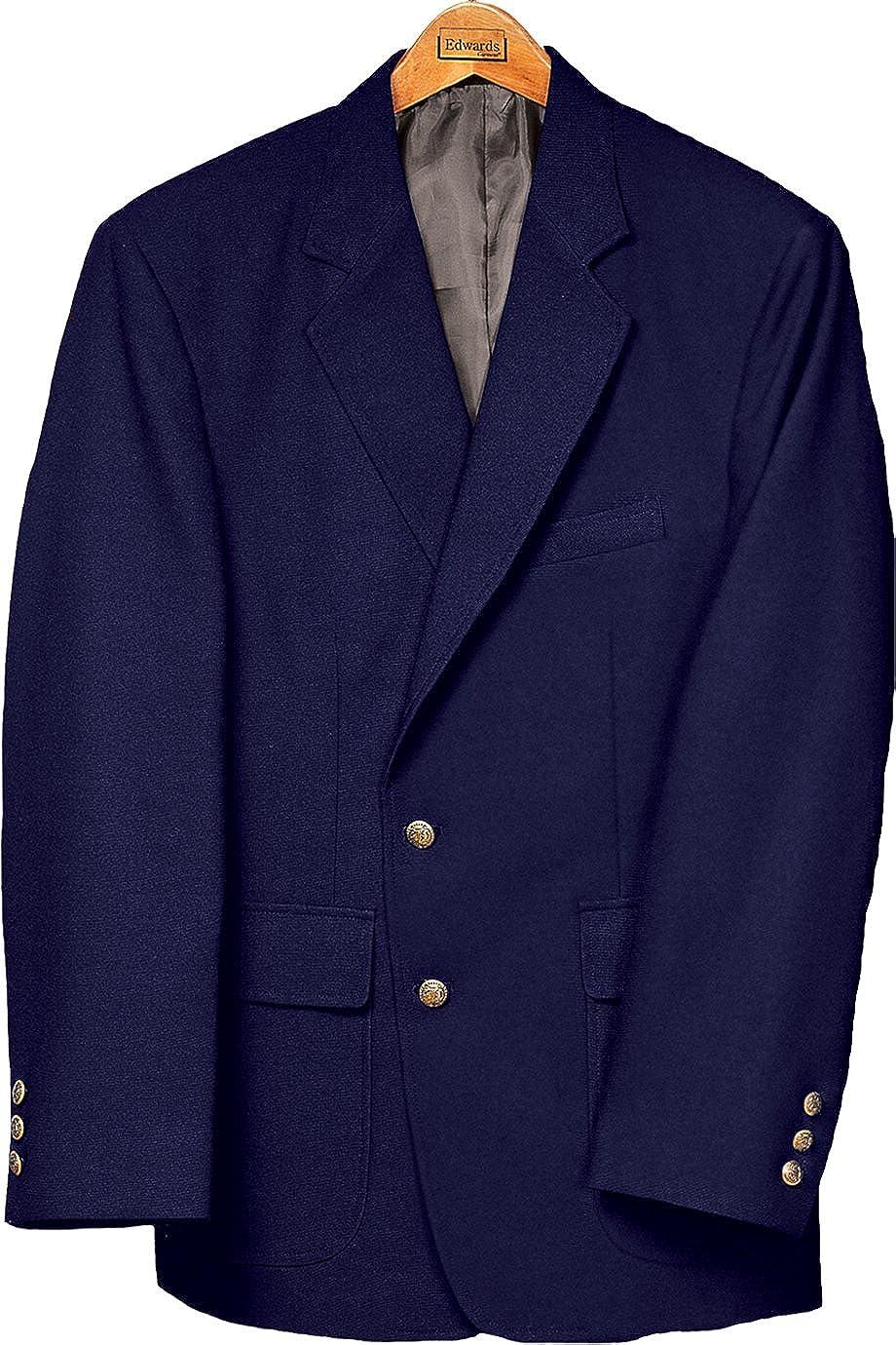 Edwards Men's Value Poly Blazer, Navy, 50