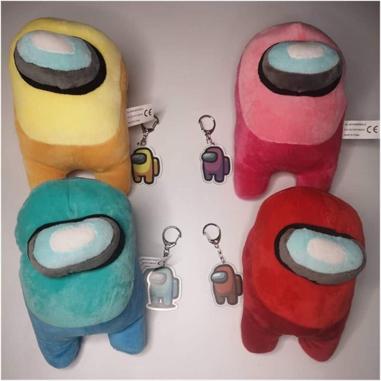 XMCHE 20CM Hot Doll Parmi Nous avec Le modèle de Boucle clé Jouets Oreiller en Peluche poupée Fans de Jeu Arbre de Noël Pendentif Cadeau Oreiller créatif (Color : 3) 2