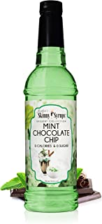 Jordan's Skinny Mixes Jordan's Skinny Syrups Mint Chocolate Chip, Sugar Free Flavoring Syrup, Ounce Bottle Mint Chocolate ...