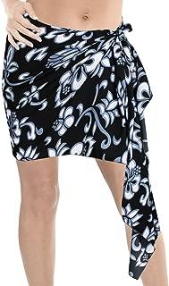 Women's Plus Size Sarong Beach Blanket Pareo Wrap Skirt Tie Half Short