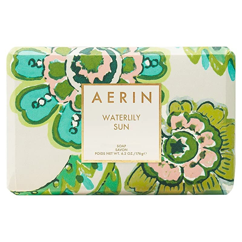 ラダ任意ホットAerinスイレン日石鹸176グラム (AERIN) (x6) - AERIN Waterlily Sun Soap 176g (Pack of 6) [並行輸入品]