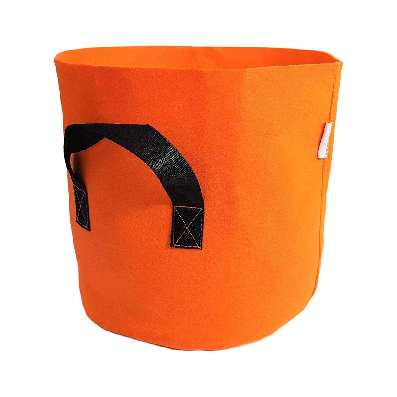 Bootstrap Farmer Grow Bags 7 Gallon, Orange 10 Pack, Colored Fabric Pot for Peppers, Potatoes, Tomatoes and Plants