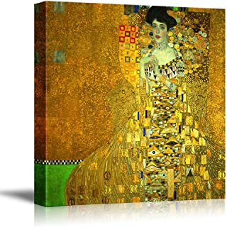 wall26 - Portrait of Adele Bloch-Bauer I by Gustav Klimt - Canvas Print Wall Art Famous Oil Painting Reproduction - 24