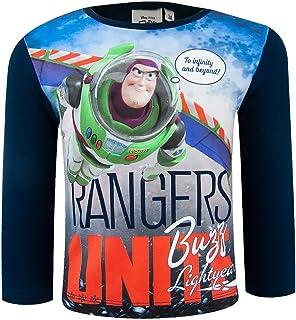 Toy Story 4 Camiseta de manga larga 100% algodón con Sheriff Woody, personajes de Buzz Lightyear de 2 a 8 años