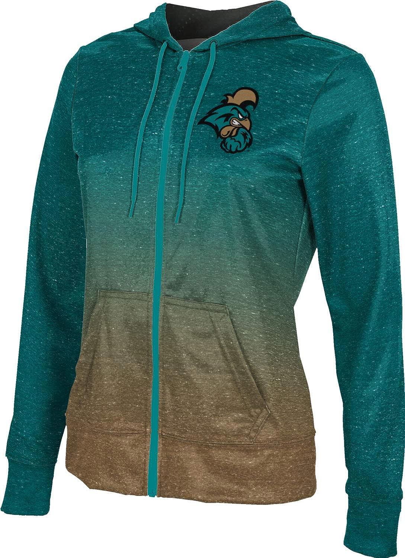 Coastal Carolina University Girls' Zipper Hoodie, School Spirit Sweatshirt (Ombre)