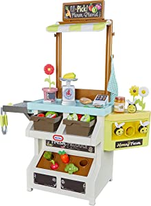 Little Tikes 3-in-1 Garden to Table Market Pretend Garden Food Growing and Cooking Toy Role Play Kitchen Playset for Multiple Kids and Toddlers