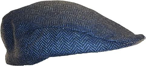 Shandon 100% Wool Irish Flat Cap Blue Herringbone (Medium)