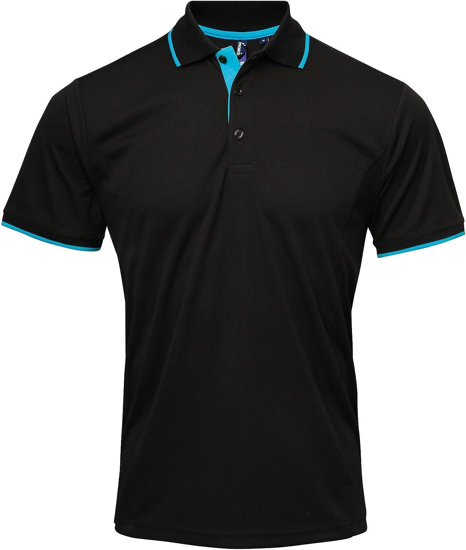 Premier Mens Contrast New product type Sale Polo Shirt Coolchecker