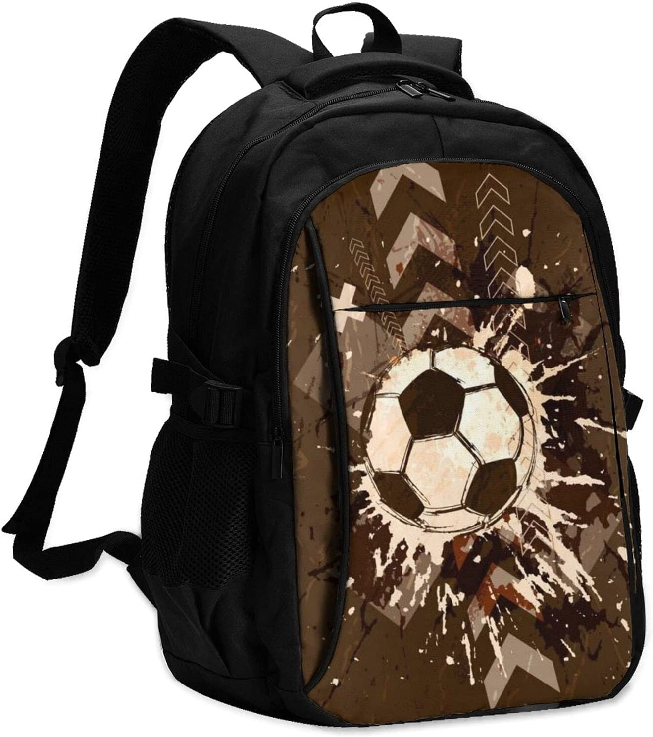 KAETZRU Laptop Backpacks Limited time cheap sale with USB Sport Import Vintage Sports Football