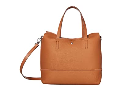 ECCO Jilin Tandem Small Shopper (Amber/Apricot) Cross Body Handbags