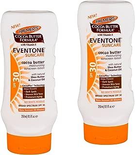 Palmer's Cocoa Butter Formula With Vitamin E, Eventone Suncare Sunscreen Lotion, SPF 30, 8.5 Fl Oz pack of 2