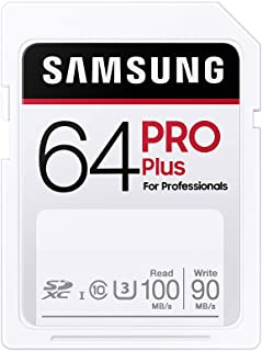 SAMSUNG PRO Plus SDXC Full Size SD Card 64GB (MB SD64H), MB-SD64H/AM