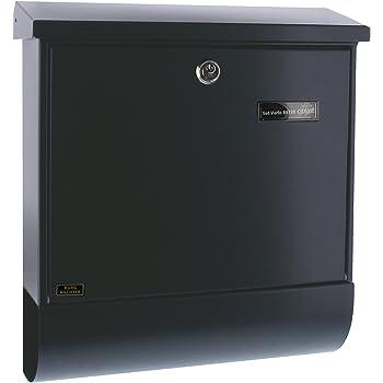 BURG-WÄCHTER Briefkasten-Set mit Zeitungsbox, A4 Einwurf-Format, EU Norm EN 13724, Verzinkter Stahl, Set Vario ANT, Anthrazit
