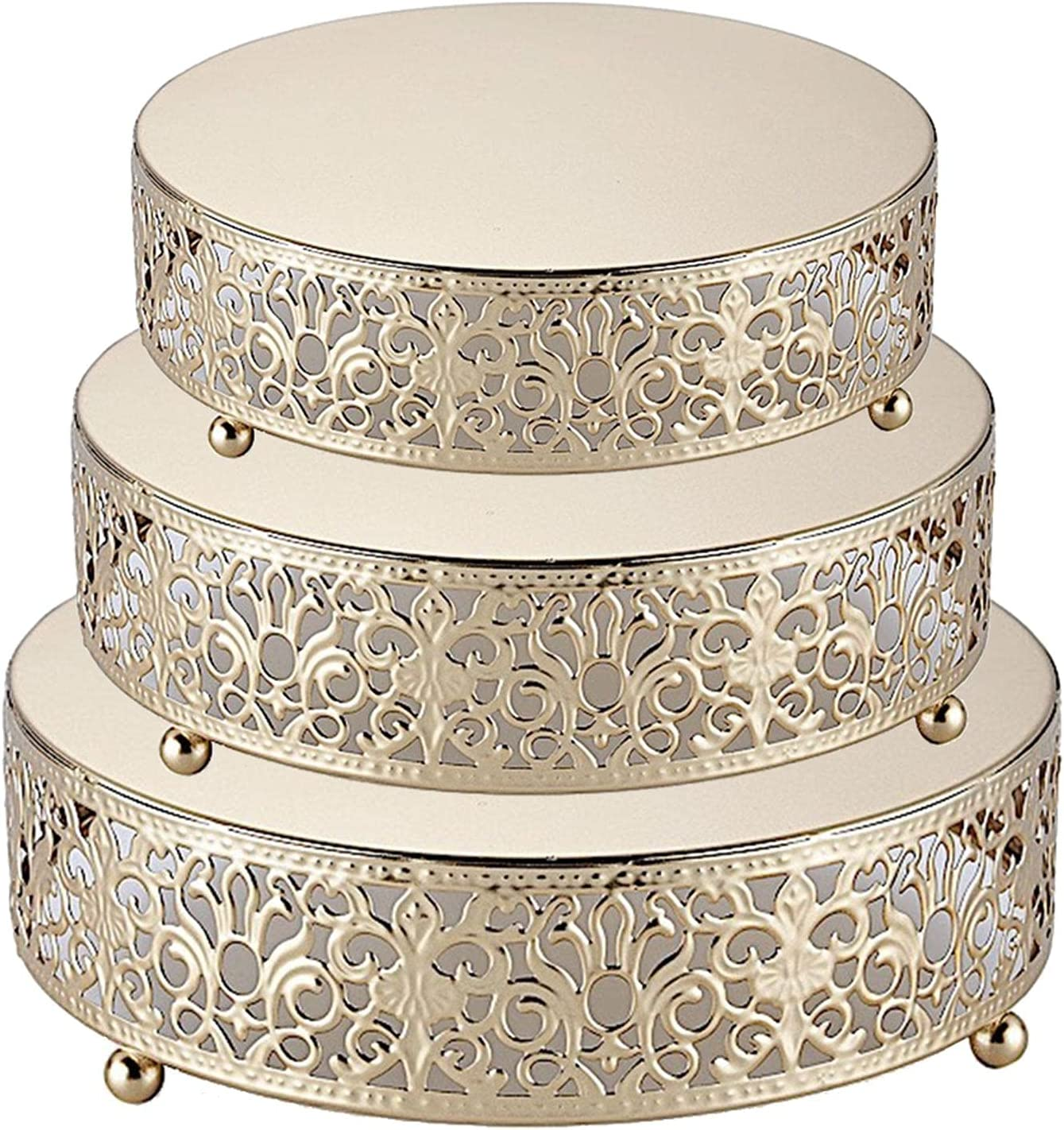 3pcs Cake Stands San Antonio Mall Set Max 50% OFF Round Display Dessert for Cupcake Can Stand