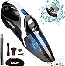 Handheld Vacuum, LOZAYI 7KPA Cordless Hand Vacuum Cleaner Rechargeable Hand Vac, LED Light 100W Stronger Cyclonic Suction Lightweight Wet/Dry Vacuum for Home Pet Hair Car Cleaning