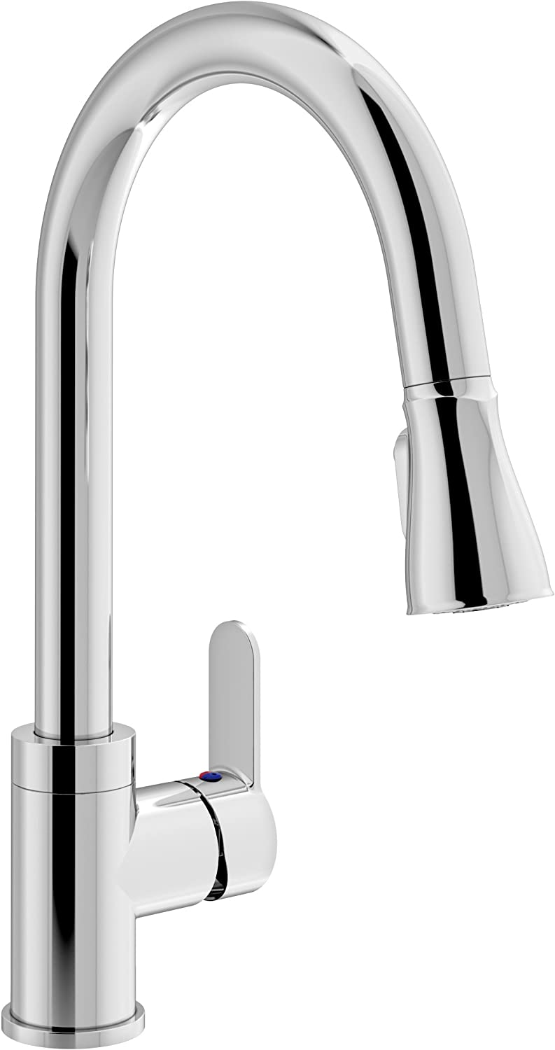 Symmons S-6710-PD-1.5 Identity Single Handle Pull-Down Kitchen Faucet, Chrome