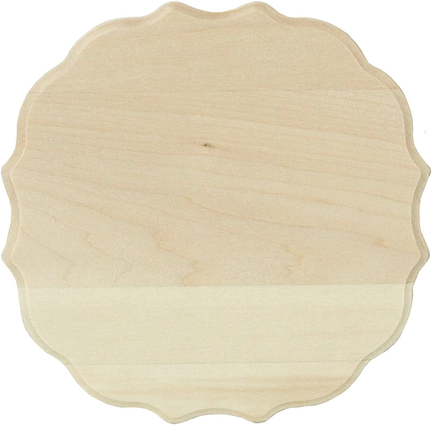 Basswood Thin Plaque 13cm X 18cm Medallion
