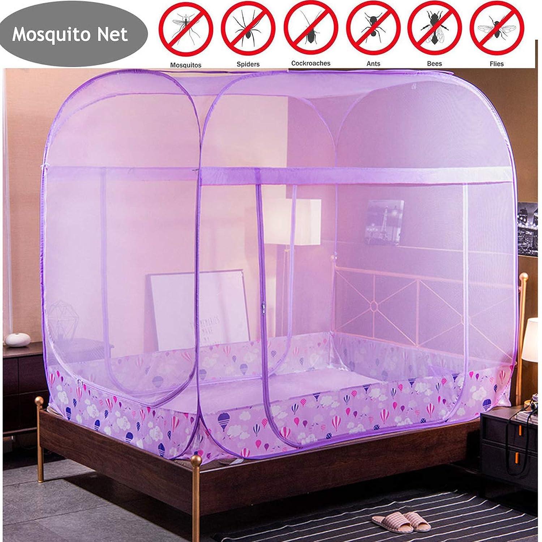 精緻化味作者蚊帳折りたたみ式大型エントリーポップアップユルト蚊帳は気流を確保ポップアップテントカーテン虫を駆除屋内と屋外での使用に最適