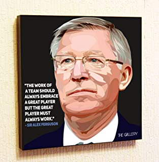 Sir Alex Ferguson Manchester United MU Decor Motivational Quotes Wall Decals Pop Art Gifts Portrait Framed Famous Paintings on Acrylic Canvas Poster Prints (10x10