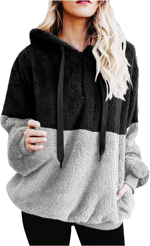 Hotkey Women's Hoodies Long Sleeve Sweatshirt Albuquerque Mall Pockets Hooded Wholesale Pul