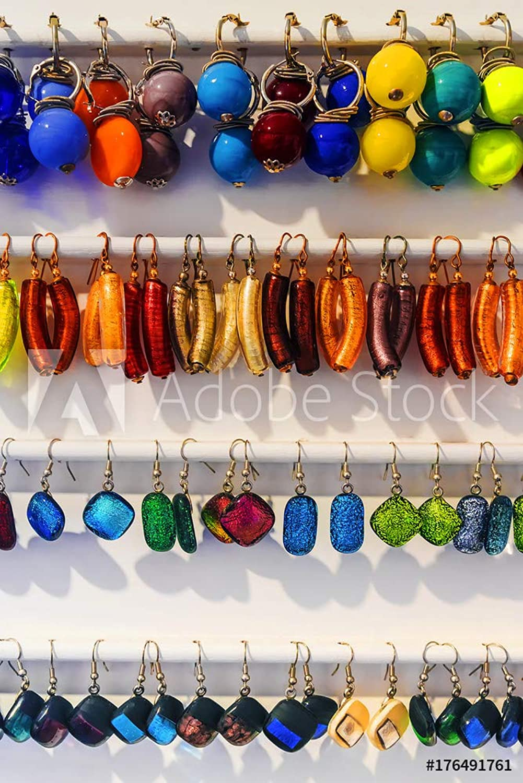 venta caliente Druck-shop24 Druck-shop24 Druck-shop24 176491761 Souvenir Jewelry Earrings Murano,  - Imagen sobre Lienzo, póster fotográfico, Aluminio Dibond, Vidrio acrílico, Placa Forex, lámina Adhesiva  Precio por piso
