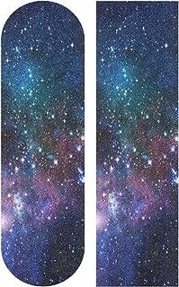 SLHFPX Outer Space Galaxy 33 x 9 inch Skateboard Grip Tape Sheet Bubble Free Skateboard Longboard Griptape Sand Paper Non-Slip