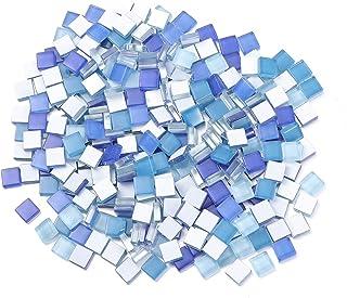 Milisten 300 Pcs Carreaux de Mosaïque Carré Cristal Mosaïque Pierres Vitrail Carreaux pour Cadres Photo Bricolage Artisana...