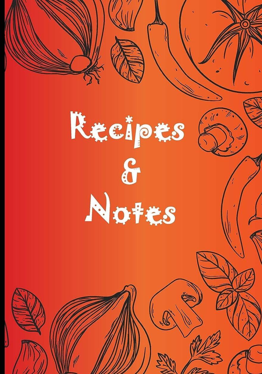 モチーフラバ規則性Recipes & Notes: Blank Recipe Journal Book to Write for Women Wife Mom Food Cookbook Design Document Special Recipes and Notes Favorite (Delicious Recipes Journal Favorite Notebook)
