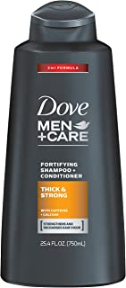 Dove Men+Care 2 in 1 Shampoo and Conditioner, Thick and Strong 25.4 Ounce