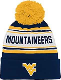 NCAA West Virginia Mountaineers Toddler Outerstuff Jacquard Cuffed Knit Hat with Pom, Team Color , Toddler