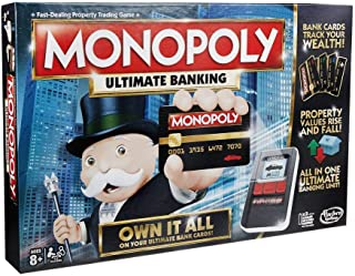Hasbro Monopoly B6677 Game Ultimate Banking Edition, 79 Pieces