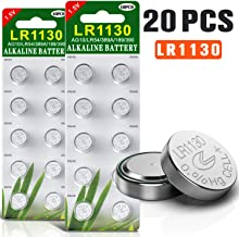 20 Pack Button Cell Batteries 1.5V Alkaline AG10 189 389 LR1130 With Long Shelf Life
