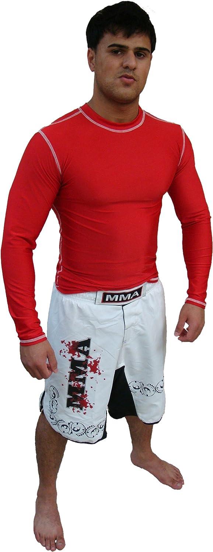 Rash Guard Color Red Full Sleeve Size XS NO Logo Sparring Fitness Rash Guards Sports Wear Grappling, Kickboxing Rash Guards, Fighting, Muay Thai Training Rash Guards