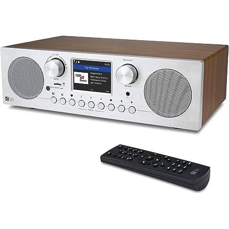 "Ocean Digital WiFi/FM Internet Radio, WR-800F with Dual Alarm Clock, Sleep Timer, Micro SD/TF Card Playback& 2.8"" Color Display, Support UPnP & DLNA"